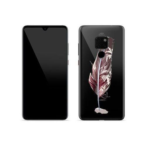 Huawei Mate 20 - etui na telefon Crystal Design - Bordowe pióro, ETHW799CRDGDG047000