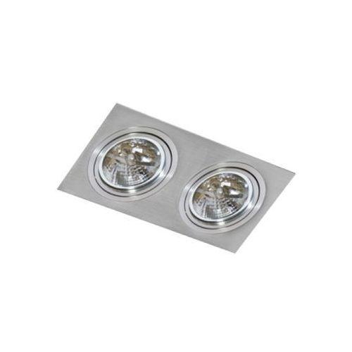 Oczko lampa sufitowa oprawa wpuszczana Azzardo Siro 2 2X50W AR111 aluminium GM2200, GM2200
