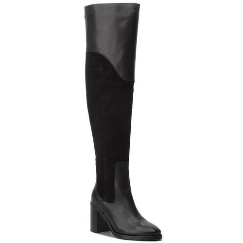 Muszkieterki - material mix heeled fw0fw03453 black 990, Tommy hilfiger, 36-40