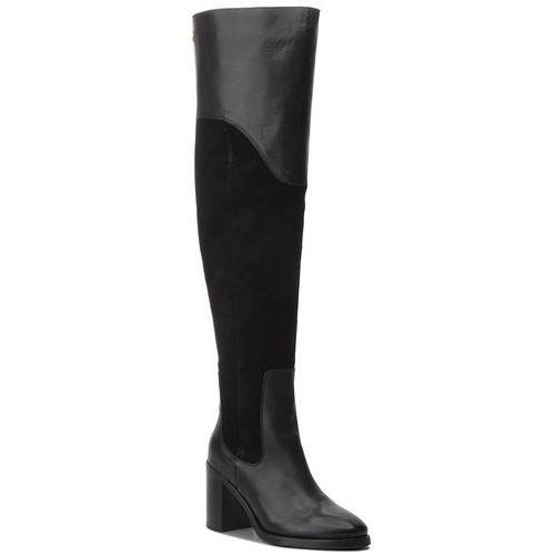 Muszkieterki - material mix heeled fw0fw03453 black 990, Tommy hilfiger, 37-40