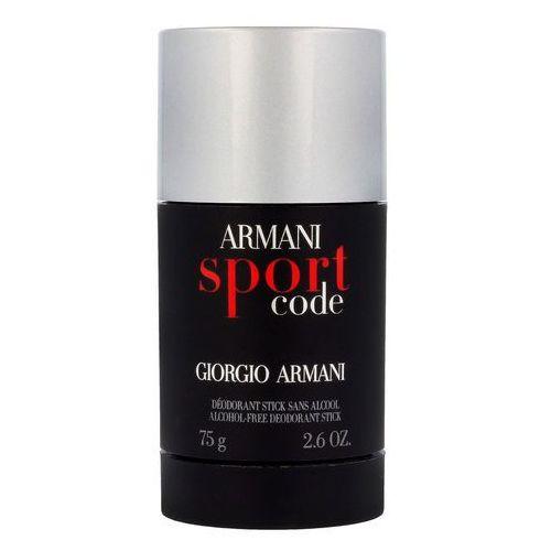 Giorgio Armani Armani Code Sport pour Homme Dezodorant sztyft 75 g - bezalkoholowy, ARM-COS11