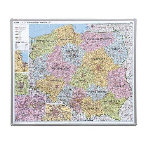 2x3 Tablica mapa polski administracyjna 102x120 cm (pinezki)