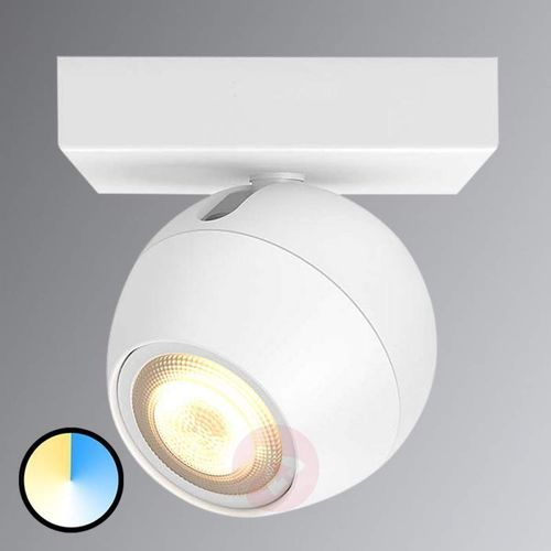 Philips Spot led hue buckram, jednopunktowy, biały