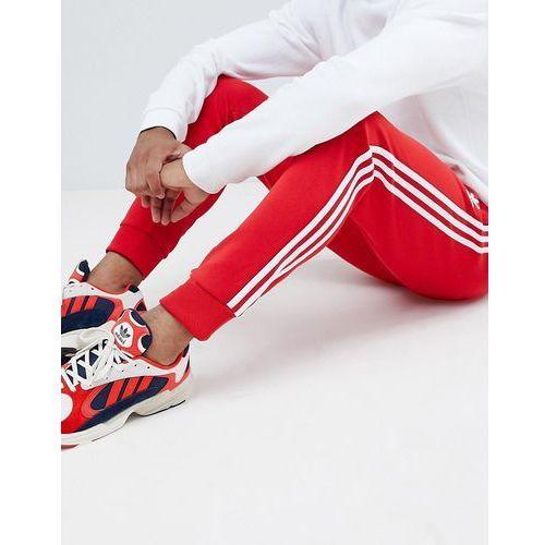 3-stripe skinny joggers with cuffed hem in red dh5837 - red, Adidas originals, XS-XXL
