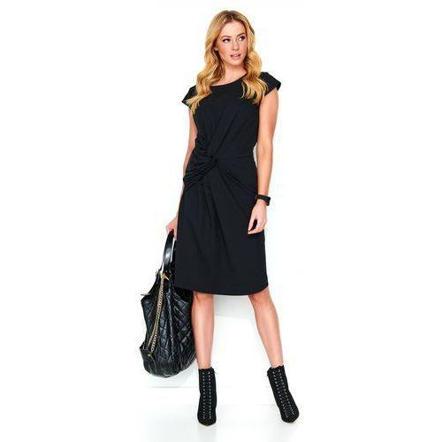 Makadamia sukienka damska 38 czarna, kolor czarny