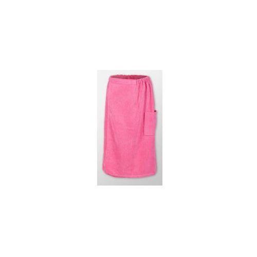 Sauna kilt ręcznik różowy na rzep frotte, Produkcja własna