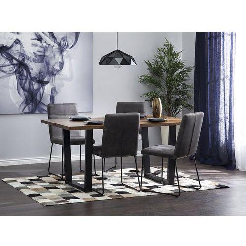 Beliani Stół do jadalni brązowy 160 x 90 cm austin (4260586355086)