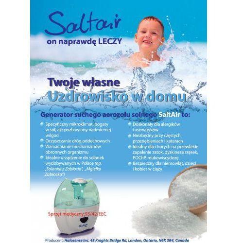 Generator suchego aerozolu solnego saltair salinizer salinizator do solanki do domu i do gabinetu urządzenie medyczne przesyłka gratis marki Halosense canada