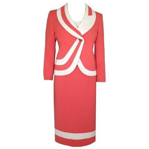 Kostium damski Julia III, koralowa kreacja na wiosnę. - Julia III koralowa - produkt z kategorii- garsonki i kostiumy