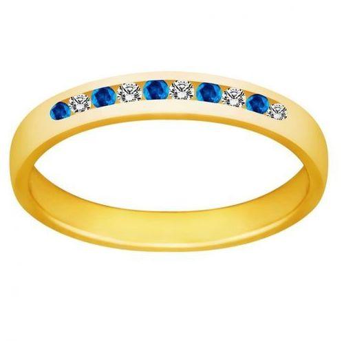 Pierścionek z szafirami i brylantami 0,08ct - PK/016c, marki Świat Złota do zakupu w Świat Złota