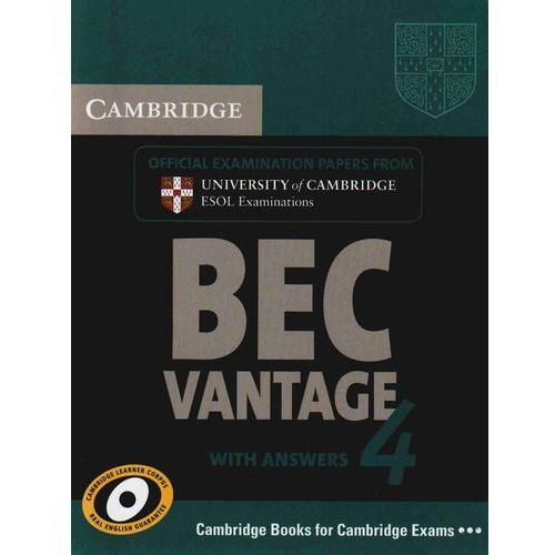 Cambridge BEC Vantage 4 Student's Book (podręcznik) with Answers, Cambridge ESOL