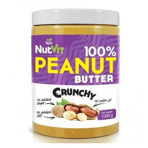Ostrovit nutvit 100% peanut butter 1000 g crunchy (5902232610017)
