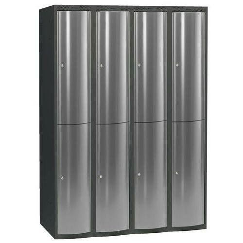 Ekskluzywne szafy osobiste 4x2 schowki w pionie Kolor drzwi: Jasny szary metalizowany ze sklepu AJ Produkty