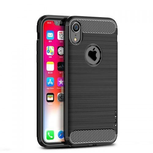 Etui Ipaky Drawing Carbon Iphone XR Czarne, kolor czarny