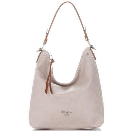 dcd291e4678ac Firmowe torebki damskie torba uniwersalna do noszenia na co dzień wykonana  z wysokiej jakości skóry ekologicznej beżowa (kolory) marki David jones  119,00 zł ...