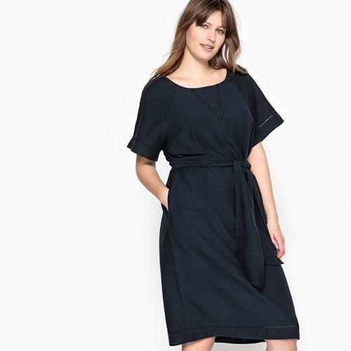 Prosta krótka sukienka z krótkim rękawem (3614850956331)