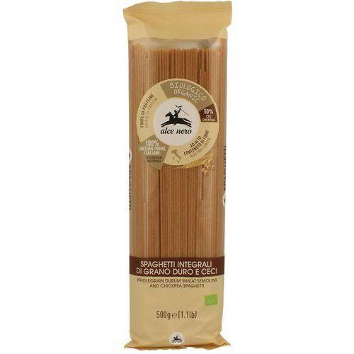 Alce nero (włoskie produkty) Makaron (semolinowy z ciecierzycą) spaghetti bio 500 g - alce nero