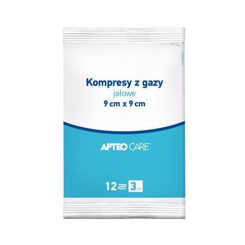 Kompresy z gazy jałowe apteo 9 x 9cm x 3 sztuki marki Synoptis pharma