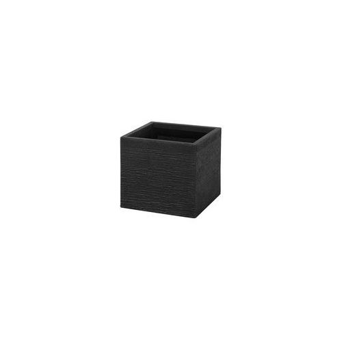 Doniczka czarna kwadratowa 30 x 30 x 28 cm paros marki Beliani
