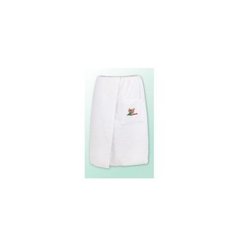 Sauna kilt ręcznik biały 100% bawełna męski 70*140 podwójna przędza 400gram logo