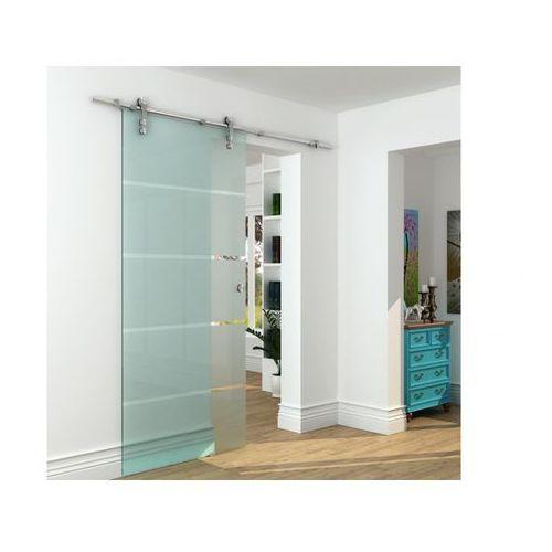 Vente-unique Naścienne drzwi przesuwne glassy - wys. 205 × szer. 93 cm - szkło hartowane
