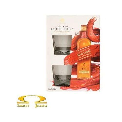 Whisky Johnnie Walker Red Label 0,7l + 2 szklanki edycja limitowana, ECFB-74194