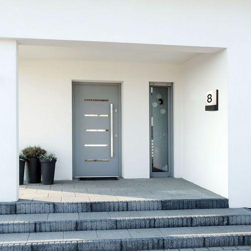 Nowodvorski Kinkiet flat 9422 lampa ścienna ogrodowa 1x12w led ip54 biały / grafit (5903139942294)