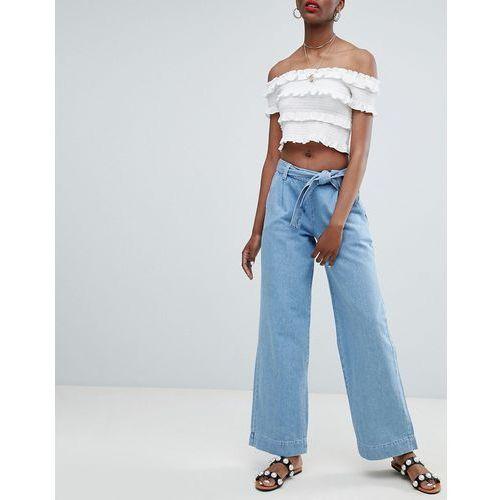 New Look Wide Leg Jeans - Blue, kolor niebieski