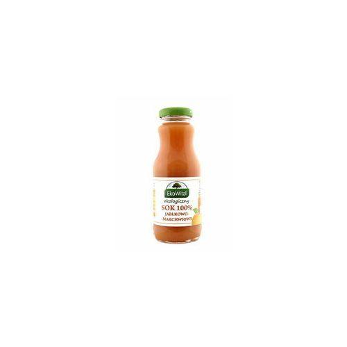 Sok jabłkowo-marchwiowy tłoczony 100 % bio 250 ml bez cukru marki Eko wital