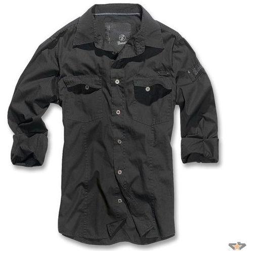 koszula męskie BRANDIT - Men Shirt Slim - Black - 4005/2