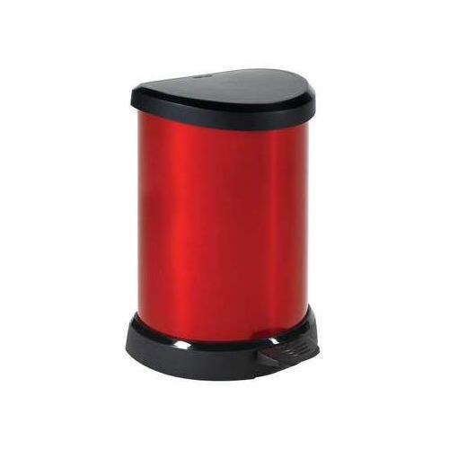 Kosz na śmieci metalizowany 20 l czerwony - produkt dostępny w InBook.pl
