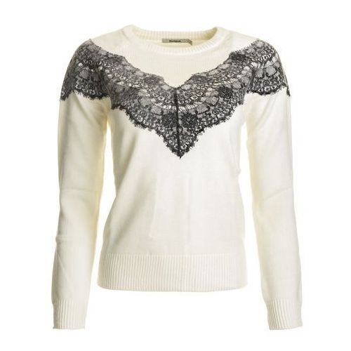 Desigual sweter damski saruka s kremowy