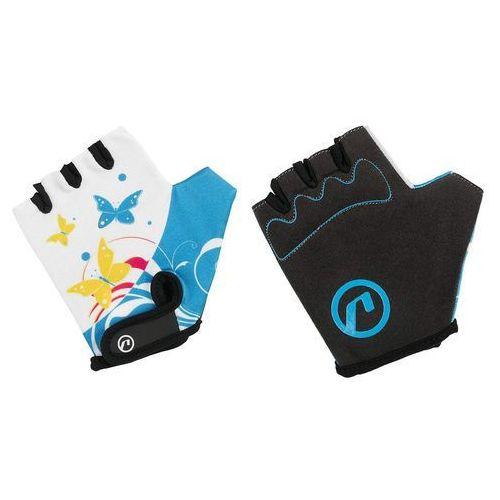Rękawiczki dziecięce Accent Daisy biało-niebieskie L/XL, 610-81-15_ACC-L/XL