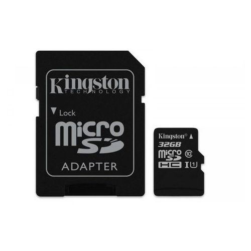 karta pamięci kingston microsdhc canvas select 32gb uhs-i class 10 + adapter marki Kingston