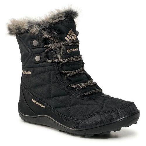 Śniegowce COLUMBIA - Minx™ Shorty III BL591010 Black/Pebble 010, kolor czarny