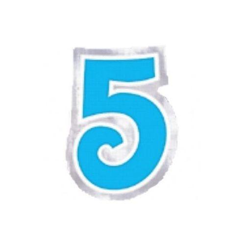 "Naklejka na balon, cyfra ""5"" - 6 szt"