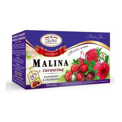 Herbata malina z żurawiną (20 sztuk) marki Malwa