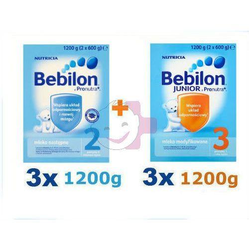 Bebilon 2 z Pron. 3x1200g + Bebilon 3 z Pron. 3x1200g ZESTAW - produkt dostępny w Apteka Dziecka