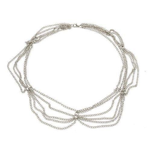 Cloe Naszyjnik multi chain silver