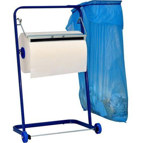 Stojak na czyściwo przemysłowe z uchwytem na worek na śmieci Sanitario stal kolorowa, T6504