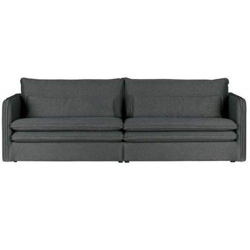 Sofa matthijs z podwójnymi poduszkami ciemnoszara marki Woood