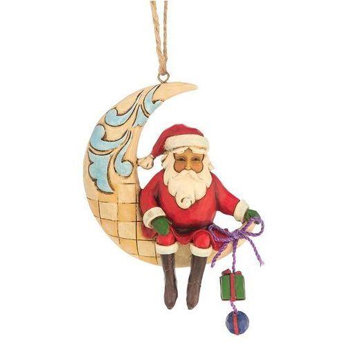 Mikołaj na księżycu zawieszka Crescent Moon Santa Hanging Ornament 4047786 Jim Shore figurka ozdoba świąteczna