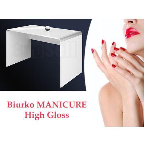 Hubertus design Stolik/biurko manicure 100 białe wysoki połysk