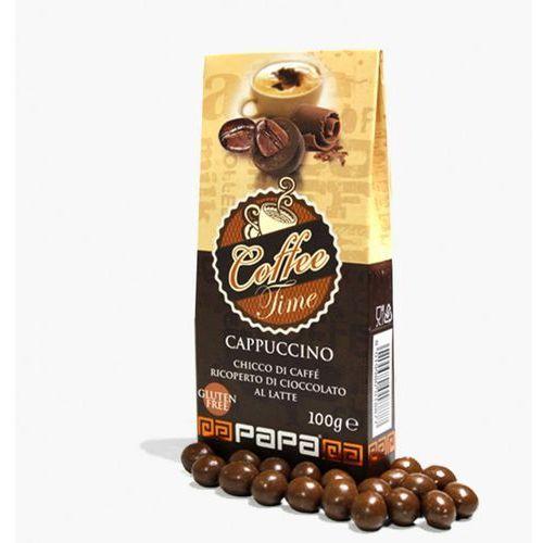 Papa Coffe Time ziarno prażonej kawy w mlecznej czekoladzie o smaku Cappuccino100 g
