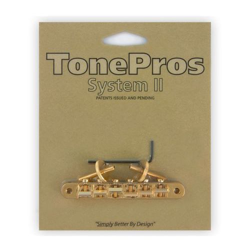 Tonepros avr2-g - tune-o-matic bridge, mostek do gitary, złoty
