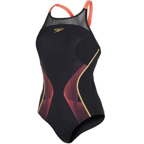 strój kąpielowy fit pinnacle xback black/red/gold 34 (38) marki Speedo