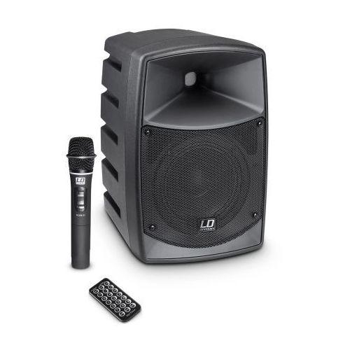 Ld systems roadbuddy 6 przenośny zestaw nagłośnieniowy 50w rms z mikrofonem bezprzewodowym doręcznym, bluetooth, mp3