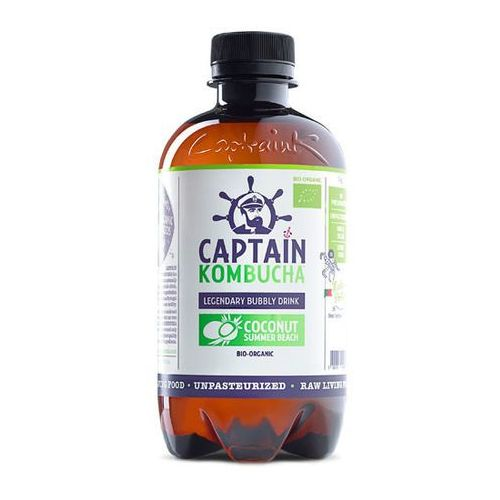Napój coconut summer beach - kokosowy bio 400ml marki Captain kombucha