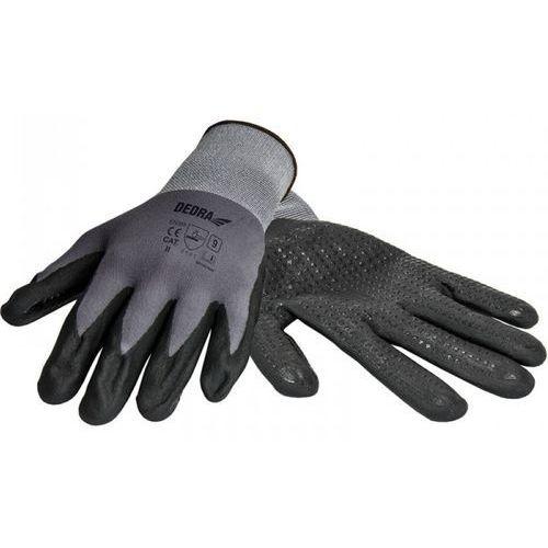 Rękawice robocze DEDRA BH1006R09 Czarno-szary (rozmiar L) (5902628210661)
