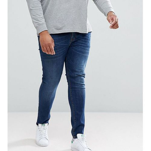 plus super skinny jeans in dark wash - blue, Asos